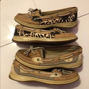 Sperry Top-sider angelfish boat shoes leopard 9
